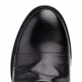 Marco Shoes Botki damskie 1258B Marco z skóry marszczonej czarne 4