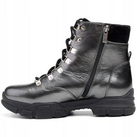 Marco Shoes Sportowe botki 1349B Marco ze skóry szare 2