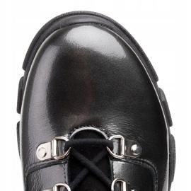 Marco Shoes Sportowe botki 1349B Marco ze skóry szare 4