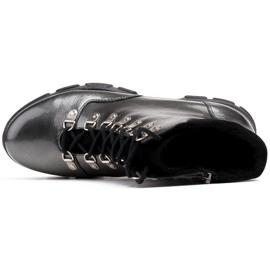 Marco Shoes Sportowe botki 1349B Marco ze skóry szare 5