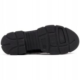 Marco Shoes Sportowe botki 1349B Marco ze skóry szare 6