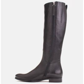 Marco Shoes Gładkie, klasyczne czarne oficerki 1323K na płaskim 2
