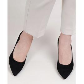 Marco Shoes Czarne czółenka z metalicznym obcasem 4