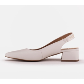 Marco Shoes Białe sandały z jetami 3