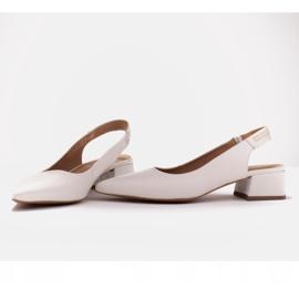 Marco Shoes Białe sandały z jetami 5