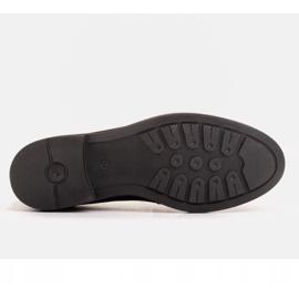 Marco Shoes Czarne mokasyny z welurem ze zdobieniem 1
