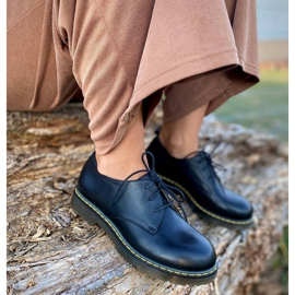 Marco Shoes Czarne półbuty damskie na grubym spodzie przeźroczystym 8