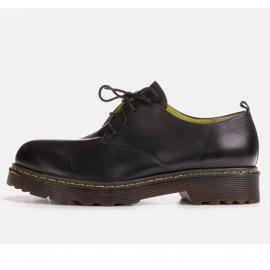 Marco Shoes Czarne półbuty damskie na grubym spodzie przeźroczystym 1
