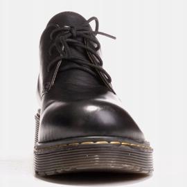 Marco Shoes Czarne półbuty damskie na grubym spodzie przeźroczystym 3