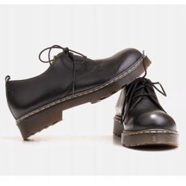 Marco Shoes Czarne półbuty damskie na grubym spodzie przeźroczystym 5