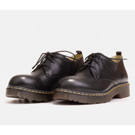 Marco Shoes Czarne półbuty damskie na grubym spodzie przeźroczystym 7