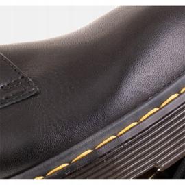 Marco Shoes Czarne półbuty damskie na grubym spodzie przeźroczystym 6