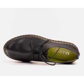 Marco Shoes Czarne półbuty damskie na grubym spodzie przeźroczystym 2