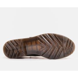 Marco Shoes Czarne półbuty damskie na grubym spodzie przeźroczystym 4