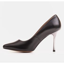Marco Shoes Szpilki czarne z metalicznym obcasem 2