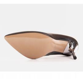 Marco Shoes Szpilki czarne z metalicznym obcasem 6