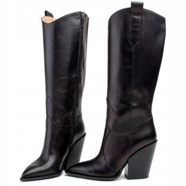 Marco Shoes Czarne kozaki damskie Marco 1399K kowbojki 2