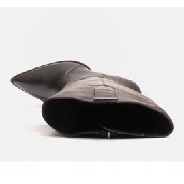 Marco Shoes Czarne kozaki damskie Marco 1399K kowbojki 6