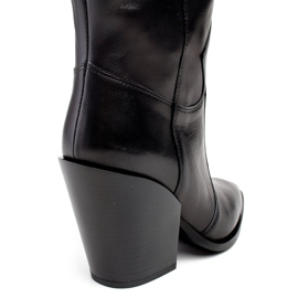 Marco Shoes Czarne kozaki damskie Marco 1399K kowbojki 5