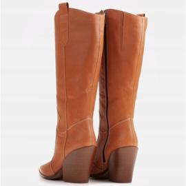 Marco Shoes Brązowe kozaki Marco 1399K kowbojki damskie 1