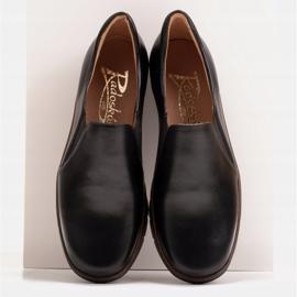Radoskór Komfortowe półbuty na szerszą stopę na lekkiej podeszwie czarne 2
