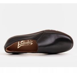 Radoskór Komfortowe półbuty na szerszą stopę na lekkiej podeszwie czarne 5