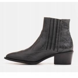 Marco Shoes Szare kowbojki z naturalnej skóry licowej bez ocieplenia 2