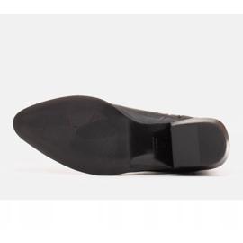 Marco Shoes Szare kowbojki z naturalnej skóry licowej bez ocieplenia 3