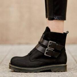 Marco Shoes Czarne botki damskie na grubym spodzie przeźroczystym 8