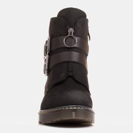 Marco Shoes Czarne botki damskie na grubym spodzie przeźroczystym 2