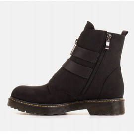 Marco Shoes Czarne botki damskie na grubym spodzie przeźroczystym 3