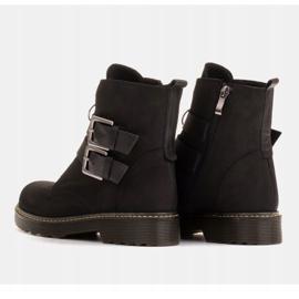 Marco Shoes Czarne botki damskie na grubym spodzie przeźroczystym 5