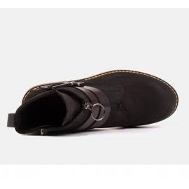 Marco Shoes Czarne botki damskie na grubym spodzie przeźroczystym 6