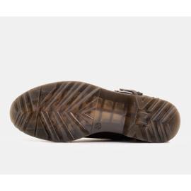 Marco Shoes Czarne botki damskie na grubym spodzie przeźroczystym 7
