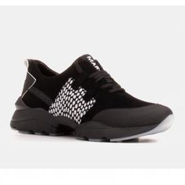 Marco Shoes Sportowe trampki z wysokiej jakości zamszu naturalnego czarne 1