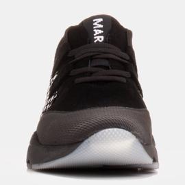 Marco Shoes Sportowe trampki z wysokiej jakości zamszu naturalnego czarne 2