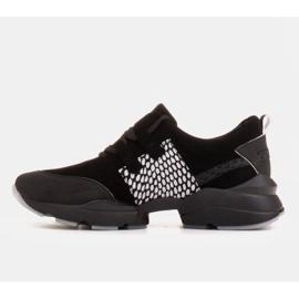 Marco Shoes Sportowe trampki z wysokiej jakości zamszu naturalnego czarne 4