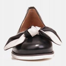 Marco Shoes Komfortowe półbuty z ukrytym klinem podwyższającym czarne 1