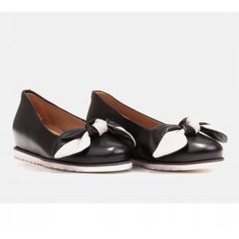 Marco Shoes Komfortowe półbuty z ukrytym klinem podwyższającym czarne 4