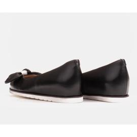 Marco Shoes Komfortowe półbuty z ukrytym klinem podwyższającym czarne 5