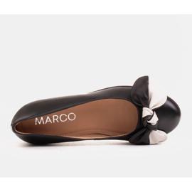 Marco Shoes Komfortowe półbuty z ukrytym klinem podwyższającym czarne 6