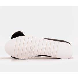 Marco Shoes Komfortowe półbuty z ukrytym klinem podwyższającym czarne 7