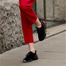 Marco Shoes Sportowe trampki z wysokiej jakości zamszu naturalnego czarne 8
