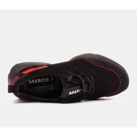 Marco Shoes Sportowe trampki z wysokiej jakości zamszu naturalnego czarne 6