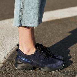 Marco Shoes Sportowe trampki z wysokiej jakości zamszu naturalnego granatowe 8