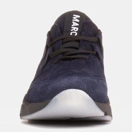 Marco Shoes Sportowe trampki z wysokiej jakości zamszu naturalnego granatowe 2