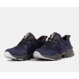Marco Shoes Sportowe trampki z wysokiej jakości zamszu naturalnego granatowe 4