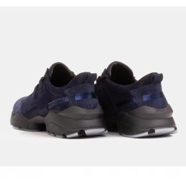 Marco Shoes Sportowe trampki z wysokiej jakości zamszu naturalnego granatowe 5