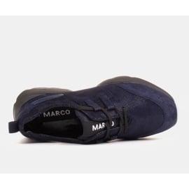 Marco Shoes Sportowe trampki z wysokiej jakości zamszu naturalnego granatowe 6