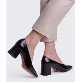 Marco Shoes Eleganckie czarne czółenka damskie z lakieru 3